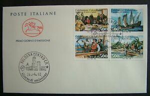 Ita 1992 Celebration Colombia 500 Lire Envelope Cavallino FDC Bologna
