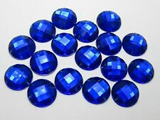 100 Royal Blue Flatback Acrylic Sewing Rhinestone 16mm Sew on beads