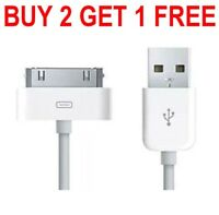 Charging USB Cable Charger Data Lead for Apple iPhone 4, 4S, 3GS, iPod, iPad 2 1