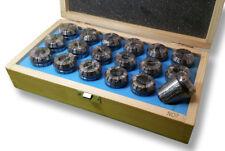 JEU de 18 PINCES ER32 sur socle bois Capacité 3 à 20mm Précision 15µ