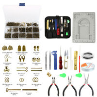 760Pcs Jewelry Findings 23Pcs Making Repair Tools Kit Beading Wire Pliers Set
