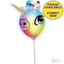 Unicorn Party Supplies 23cm LED Light up Head Balloon Birthday Decorations