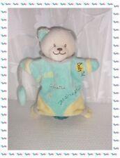 S - Doudou Marionnette Chat Vert Jaune Bonzai Adore le Jardinage .... Babynat