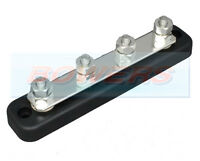 12V/24V 4 WAY POWER DISTRIBUTION BUS BAR 4x6mm STUDS 150A RATED AUTO MARINE BOAT