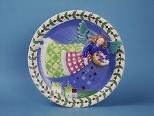 Jim Shore 3-D Porcelain Plate ANGEL OF SPRING Four Seasons HEARTWOOD CREEK