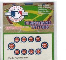 MLB Fingernail Tattoos Chicago Cubs