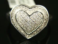 Ladies Womens Xl Double Heart Fashion/Designer Ring .75