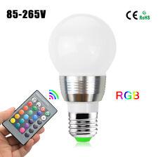 E27 E14 bulb 5W 16 Colorr LED RGB Magic Spot Light Bulb Lamp + Remote Controller
