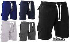 Unbranded Cotton Blend Patternless Shorts for Men