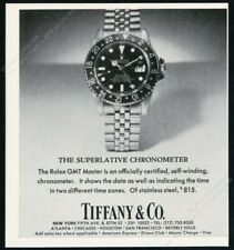1978 Rolex GMT Master watch with Tiffany's dial photo vintage print ad