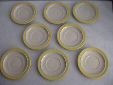 8 Saucers Stonecrest Sandpebbles Yellow JI Andre Ponche Royal Jackson 103