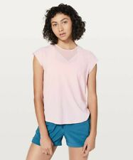 NWT Lululemon Women's For The Run Short Sleeve Top Petal Pink - 10
