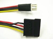 4-Pin Floppy FDD Male to 15-Pin SATA Female Power Cable Compatible w/ Dell MX714