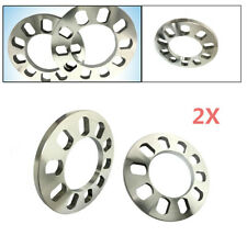 2X 5 Holes 12mm Aluminum ET Shims Car Wheel Spacers Wheelbase Gasket Excellent