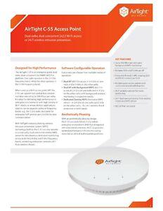 Airtight Networks Access Point SS-300-AT-C-55 Radio 2X2 802.11abg-n AP/Sensor
