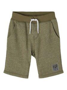 NAME IT Jungen Sweat Shorts Jogginghose NKMVato oliv grün Größe 116 bis 152