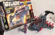 1987 GI Joe Cobra Sea Ray & Sea Slug loose Figure, Vehicle And Box Hasbro ARAH