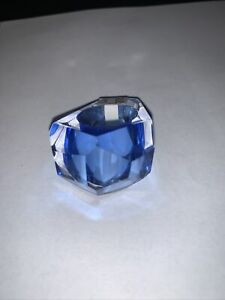 Bling Art Glass Ring, Sapphire Size 7 by Orfeo Quagliata for Phuze Design