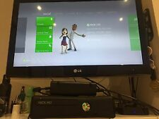 BOXED Xbox 360 S 250gb Console with Kinect + 22 games + 2 Controllers.