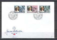Liechtenstein E62 FDC 1985 Princess Gina Red Cross