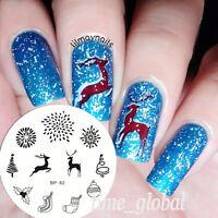 Weihnachten Thema Nail Art Stamping Fireworks Schablonen BORN PRETTY BP82