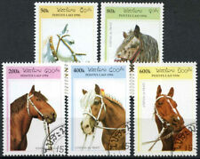 Horses Used Lao Stamps