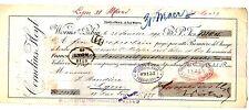 FRANCE BILLET à ORDRE MANDAT WORMS SUR RHIN 1899 2 TIMBRES ALLEMAGNE CORNELIUS
