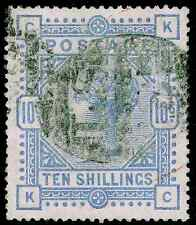 Sg182, SCARCE 10s cobalt, good used. Cat £8250. KC