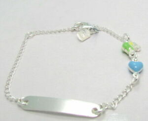 Tolles feingliedriges Kinder Armband Schildband 925 Sterling Silber