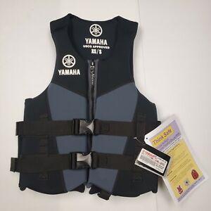 "Yamaha Neoprene Life Vest PFD w Side Handles MAR-21HAN-BK-SX - Chest 30-36"""