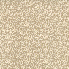 BY 1/2 YD~MODA~13607-15~FRENCH GENERAL FAVORITES~OYSTER TAN TONAL FLORAL