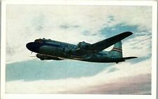 DC-6 Mainliner United Airlines Vintage Postcard AU1