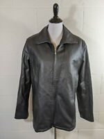 The Connection New York Women's Large Black Leather Jacket Zip Out Lining