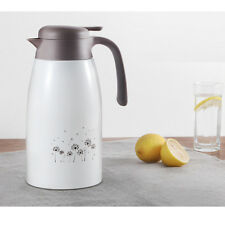 2L Vacuum Jug Double Wall Insulated Stainless Steel Thermal Teapot White