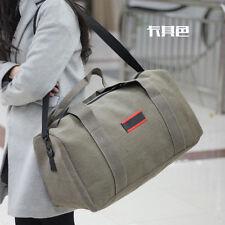 Men's Vintage Canvas Bag Leather Gym Duffle Shoulder Bag Travel Luggage Handbag