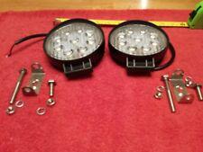 LED 27 WATT FOG LIGHTS ROUND UNIVERSAL NEW