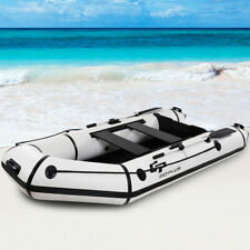 Goplus 4-Person 10FT Inflatable Dinghy Boat Fishing Tender Rafting Water Sports
