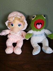 Vintage 1984 Hasbro Jim Henson MUPPET BABIES Plush Lot PAMPERS Kermit Miss Piggy