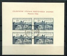 Cecoslovacchia 1950 SG #MS 608A Esposizione Filatelia usato CTO M / S #A 35571
