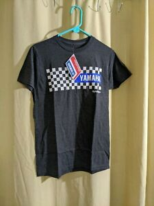 Troy Lee Designs Yamaha Checkers Tee Shirt Charcoal Heather Size Small Adult