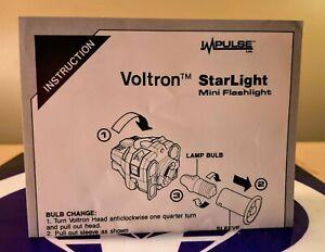 VOLTRON STARLIGHT MINI FLASHLIGHT INSTRUCTIONS 1985 IMPULSE