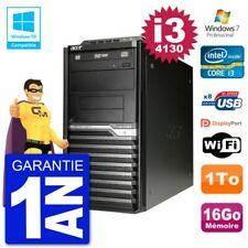 PC Acer Veriton M4630G MT i3-4130 RAM 16Go Disque 1To Graveur DVD Wifi W7
