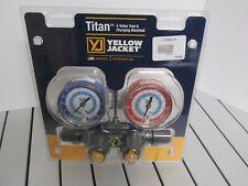 Yellow Jacket 49983 Hvac Tools Titan 4-Valve Test & Charging Manifold New Usa