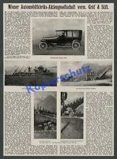 Wiener Automobilfabrik Gräf & Stift 6 Zyl Auto Traktor Landwirtschaft Forst 1917