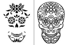 "Magnolia Design Co 8.5""x11"" SUGAR SKULL - Reusable Adhesive Silkscreen Stencil"