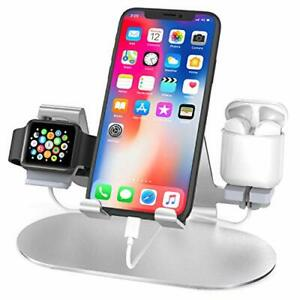 3 in 1 Aluminum Charging Stand for Apple Watch : Charger Stand Charging Station