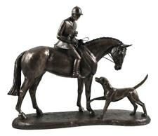 Country Companions Resin Cast Bronze Sculpture Gift
