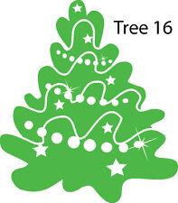 Christmas Tree Retail Shop Window Display Vinyl Sticker Wall Sticker V16