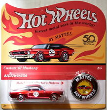 HOT WHEELS 2018 50TH ANNIVERSARY CUSTOM '67 MUSTANG #4/5 W REDLINE BUTTON