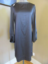 NWT Elie Tahari Stretch Silk Shift Wet Cement Delores Dress Size 6